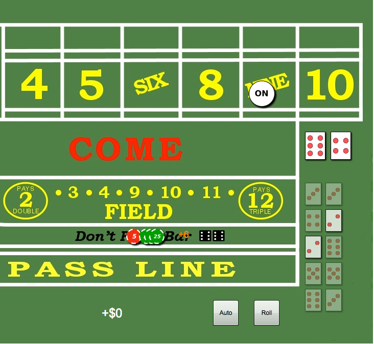 Craps hard way payout
